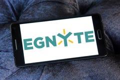 Logo della società di tecnologia di Egnyte immagini stock