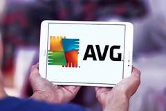 Logo della società di tecnologie di AVG Fotografia Stock