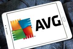 Logo della società di tecnologie di AVG Immagini Stock