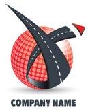 Logo della società di trasporto su autocarro Fotografie Stock