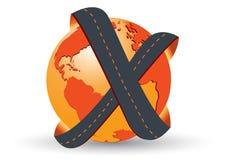 Logo della società di trasporto su autocarro Immagini Stock Libere da Diritti