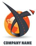 Logo della società di trasporto su autocarro Immagine Stock
