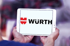 Logo della società di Wurth Fotografie Stock Libere da Diritti