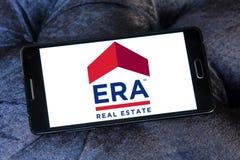 Logo della società immobiliare di ERA Immagine Stock