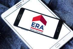 Logo della società immobiliare di ERA Fotografia Stock