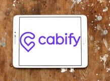 Logo della società della rete del trasporto di Cabify Immagini Stock