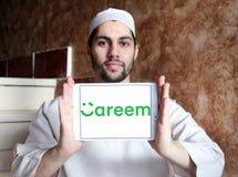 Logo della società della rete del trasporto di Careem Fotografia Stock
