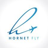 Logo della società di viaggio del calabrone di H Fotografia Stock Libera da Diritti