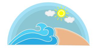 Logo della spiaggia di estate Fotografia Stock