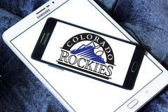 Logo della squadra di baseball di Colorado Rockies fotografia stock