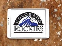 Logo della squadra di baseball di Colorado Rockies immagine stock