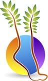 Logo della stampa del piede Fotografia Stock Libera da Diritti