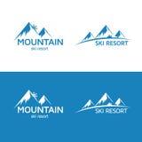 Logo della stazione sciistica Immagine Stock