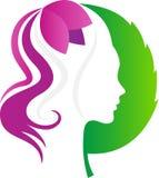 Logo della stazione termale della natura Fotografie Stock