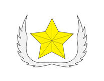 Logo della stella Immagine Stock