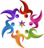 Logo della stella del cerchio illustrazione di stock