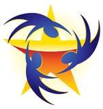 Logo della stella della gente Fotografia Stock