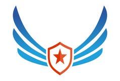 Logo della stella dello schermo delle ali illustrazione vettoriale