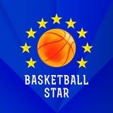 Logo della stella di pallacanestro Fotografia Stock Libera da Diritti