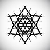 Logo della stella dipinto il nero Fotografia Stock Libera da Diritti