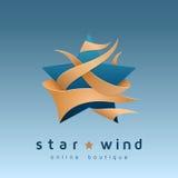 Logo della stella - emblema per il boutique online Illustrazione di vettore Immagini Stock Libere da Diritti