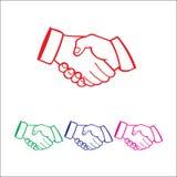 Logo della stretta di mano Fotografia Stock