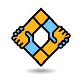 Logo della stretta di mano illustrazione vettoriale