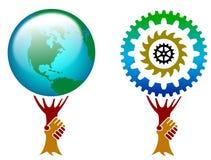 Logo della stretta di mano illustrazione di stock