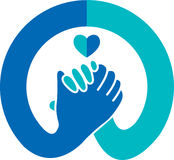 Logo della stretta di mano Immagine Stock