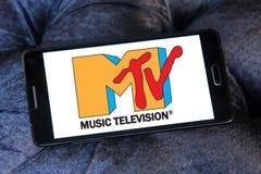 Logo della televisione di musica del Mtv Fotografia Stock Libera da Diritti