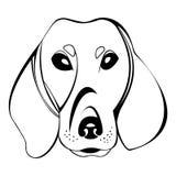 Logo della testa di cane del bassotto tedesco Fotografia Stock