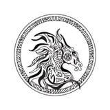 Logo della testa di cavallo illustrazione vettoriale