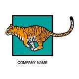 Logo della tigre Fotografia Stock Libera da Diritti