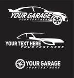 Logo delle automobili del garage illustrazione vettoriale