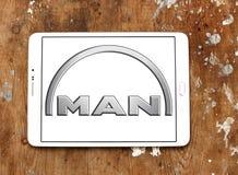 Logo delle automobili dell'uomo Fotografia Stock Libera da Diritti