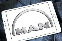 Logo delle automobili dell'uomo Fotografia Stock