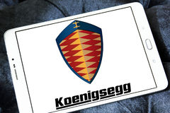 Logo delle automobili di Koenigsegg Fotografia Stock