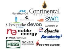 Logo delle compagnie petrolifere del independet Fotografie Stock
