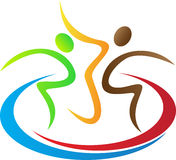 Logo delle coppie Fotografie Stock Libere da Diritti
