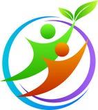 Logo delle coppie Immagine Stock
