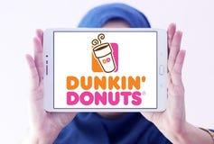 Logo delle guarnizioni di gomma piuma di Dunkin Immagine Stock Libera da Diritti