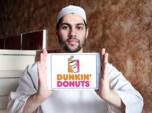 Logo delle guarnizioni di gomma piuma di Dunkin Immagine Stock
