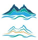 Logo delle montagne Immagini Stock Libere da Diritti