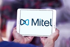 Logo delle reti di Mitel Immagini Stock Libere da Diritti