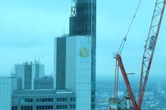 Logo delle sedi di Commerzbank a Francoforte immagine stock libera da diritti