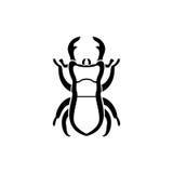 Logo dello scarabeo Immagine Stock