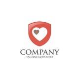 Logo dello schermo con il vettore dell'estratto del cuore di amore Immagine Stock Libera da Diritti