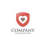 Logo dello schermo con il vettore dell'estratto del cuore di amore Fotografia Stock