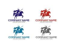 Logo dello studio legale, modello, progettazione, vettore, emblema, concetto di progetto, simbolo creativo, icona Fotografia Stock Libera da Diritti