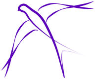 Logo dello Swallow immagini stock libere da diritti